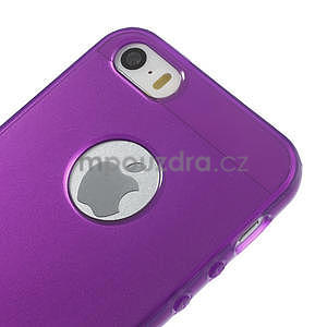 Gel-ultra slim pouzdro pro iPhone 5, 5s-fialové - 4