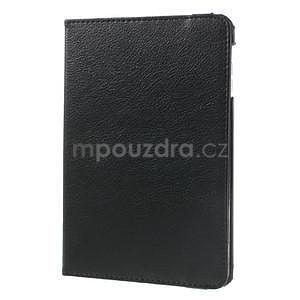 PU kožené 360 °  pouzdro pro iPad mini-černé - 4