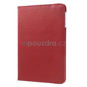 PU kožené 360 °  pouzdro pro iPad mini- červené - 4