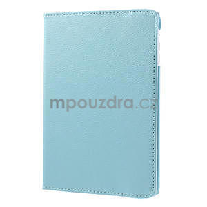 PU kožené 360 °  pouzdro pro iPad mini- modré - 4