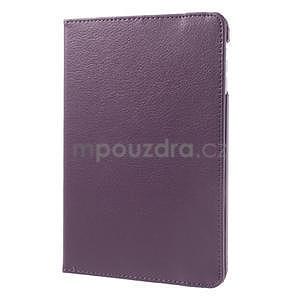 PU kožené 360 °  pouzdro pro iPad mini- fialové - 4