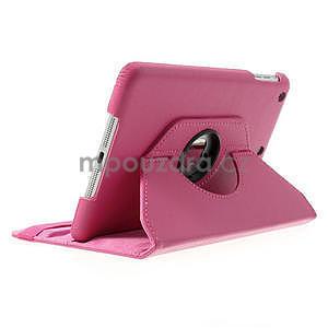 PU kožené 360 °  pouzdro pro iPad mini- růžové - 4