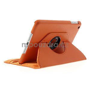 PU kožené 360 °  pouzdro pro iPad mini- oranžové - 4