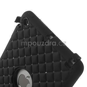 Hybridní kamínkové pouzdro pro iPad mini- černé - 4