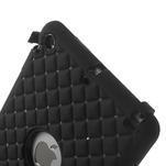 Hybridní kamínkové pouzdro pro iPad mini- černé - 4/7