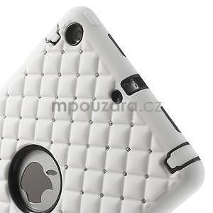 Hybridní kamínkové pouzdro pro iPad mini- bílé - 4