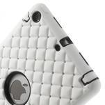 Hybridní kamínkové pouzdro pro iPad mini- bílé - 4/5