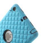 Hybridní kamínkové pouzdro pro iPad mini- světlemodré - 4/6