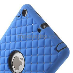 Hybridní kamínkové pouzdro pro iPad mini- modré - 4