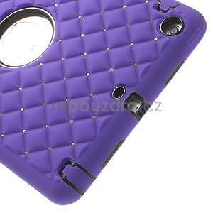 Hybridní kamínkové pouzdro pro iPad mini- fialové - 4