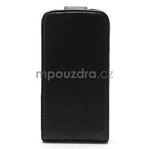 Flipové pouzdro pro iPhone 4, 4s- černé - 4