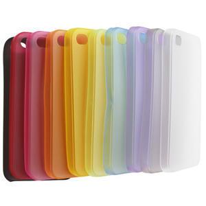 Gelové matné pouzdro na Apple iPhone 4, 4S- červené - 4