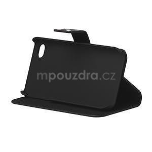 Peněženkové pouzdro pro iPhone 4, 4s- černý puntík - 4