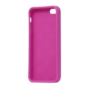 Gelové PUNTÍK pouzdro pro iPhone 5, 5s- růžový - 4