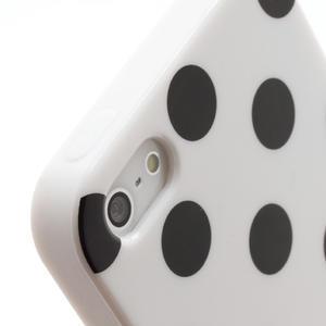 Gelové PUNTÍK pouzdro pro iPhone 5, 5s- bílé - 4