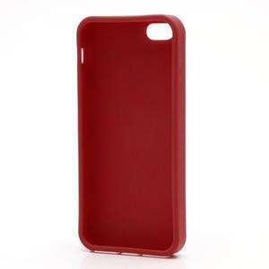 Gelové PUNTÍK pouzdro pro iPhone 5, 5s- červené - 4