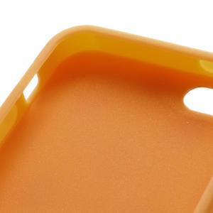 Gelové PUNTÍK pouzdro pro iPhone 5, 5s- oranžové - 4