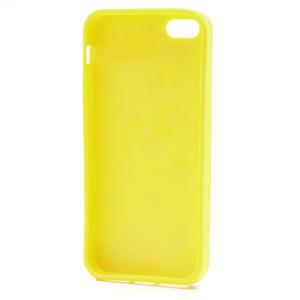 Gelové PUNTÍK pouzdro pro iPhone 5, 5s- žluté - 4