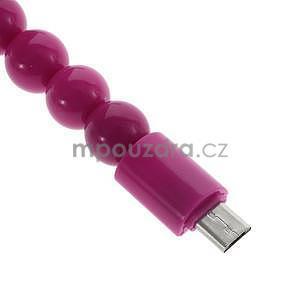 Korálkový náramek micro USB, rose - 4