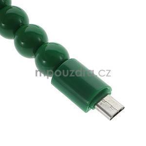 Korálkový náramek micro USB, zelený - 4