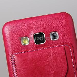 PU kožený/plastový kryt se stojánkem na Samsung Galaxy A3 - rose - 4