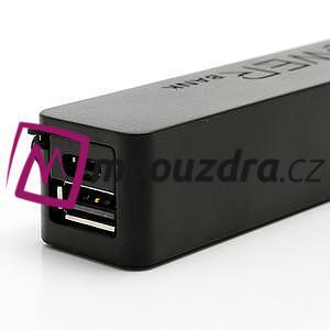 2600mAh externí baterie Power Bank - černá - 4
