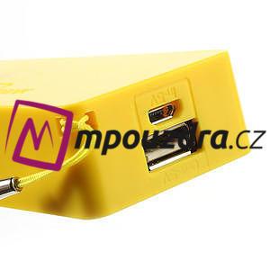 4000mAh externí baterie Power Bank - žlutá - 4