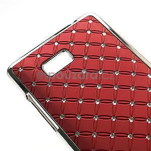 Drahokamové pouzdro pro HTC Desire 600- červené - 4