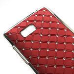 Drahokamové pouzdro pro HTC Desire 600- červené - 4/5