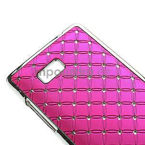 Drahokamové pouzdro pro HTC Desire 600- růžové - 4