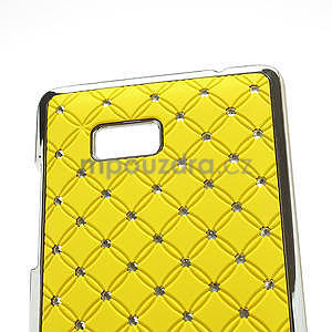 Drahokamové pouzdro pro HTC Desire 600 -žluté - 4
