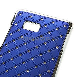 Drahokamové pouzdro pro HTC Desire 600- modré - 4
