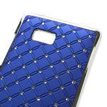 Drahokamové pouzdro pro HTC Desire 600- modré - 4/5