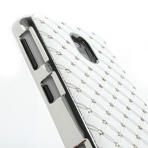 Drahokamové pouzdro na Nokia Lumia 620- bílé - 4