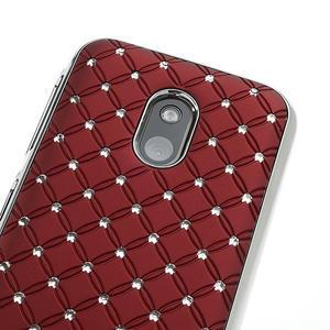 Drahokamové pouzdro na Nokia Lumia 620- červené - 4