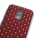 Drahokamové pouzdro na Nokia Lumia 620- červené - 4/4