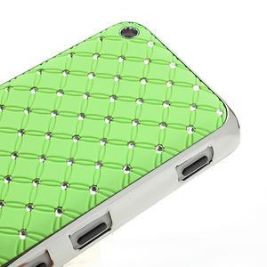 Drahokamové pouzdro na Nokia Lumia 620- zelené - 4