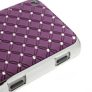 Drahokamové pouzdro na Nokia Lumia 620- fialové - 4