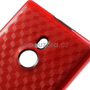 Hybridní 3D pouzdro pro Nokia Lumia 925- červené - 4