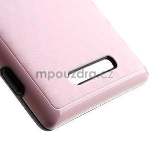 Hybridní 3D pouzdro pro Nokia Lumia 925- růžové - 4