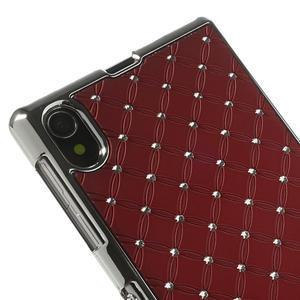 Drahokamové pouzdro na Sony Xperia Z1 C6903 L39- červené - 4