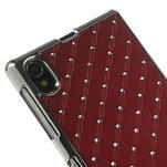 Drahokamové pouzdro na Sony Xperia Z1 C6903 L39- červené - 4/4