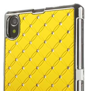 Drahokamové pouzdro na Sony Xperia Z1 C6903 L39- žluté - 4
