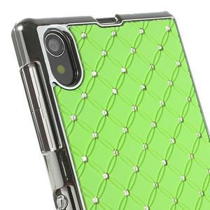 Drahokamové pouzdro na Sony Xperia Z1 C6903 L39- zelené - 4