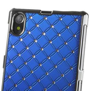Drahokamové pouzdro na Sony Xperia Z1 C6903 L39- modré - 4