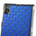 Drahokamové pouzdro na Sony Xperia Z1 C6903 L39- modré - 4/4