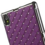 Drahokamové pouzdro na Sony Xperia Z1 C6903 L39- fialové - 4/4