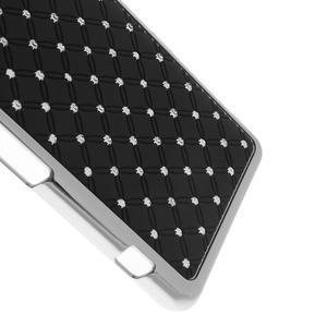 Drahokamové pouzdro na Sony Xperia Z1 Compact D5503- černé - 4