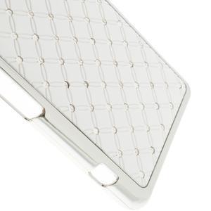 Drahokamové pouzdro na Sony Xperia Z1 Compact D5503- bílé - 4