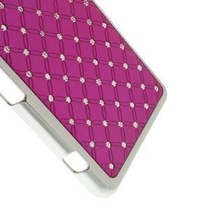 Drahokamové pouzdro na Sony Xperia Z1 Compact D5503- růžové - 4